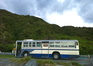 Our bus in Kaikoura