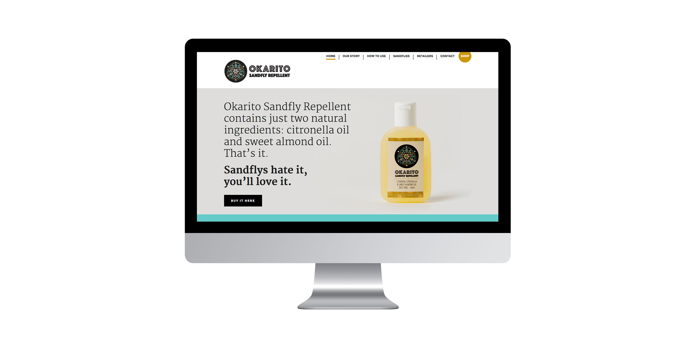 Okarito Sandfly Repellent | Web design