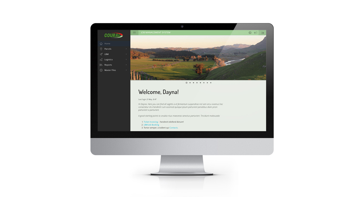 Coural home page