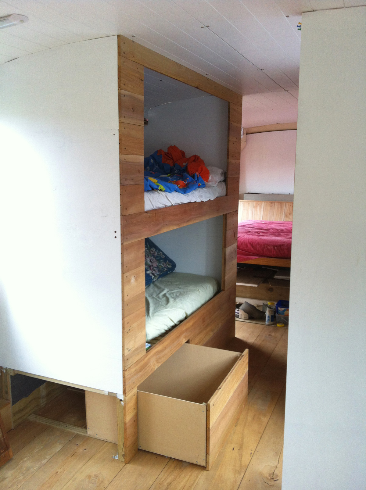 Bunks with drawer