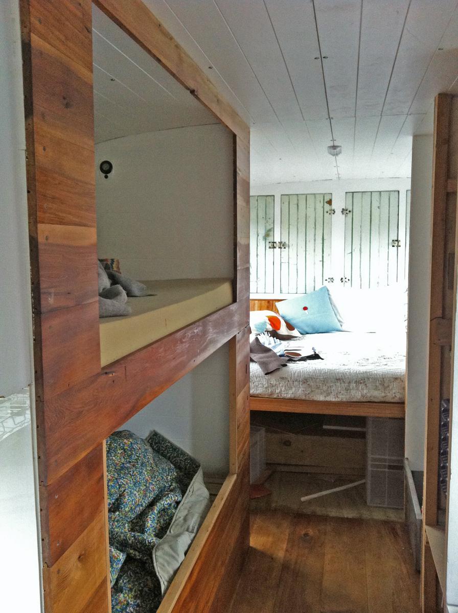 Shelves in the bedroom