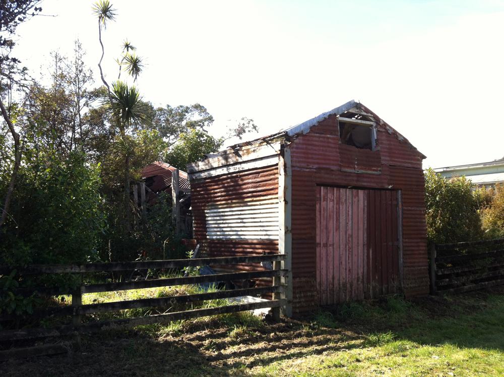 Okarito corrugated iron hut