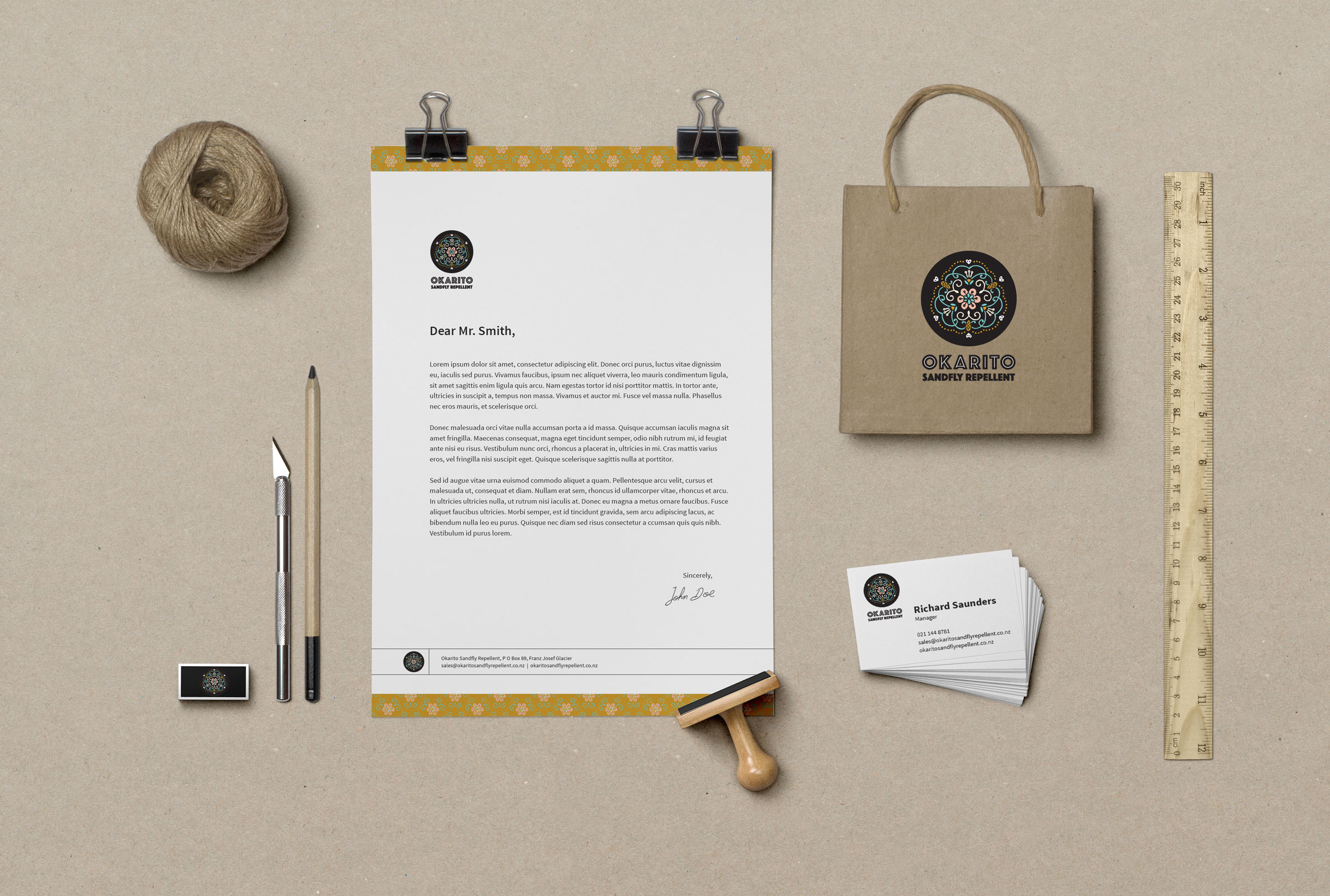 Okarito Sandfly Repellent | Branding
