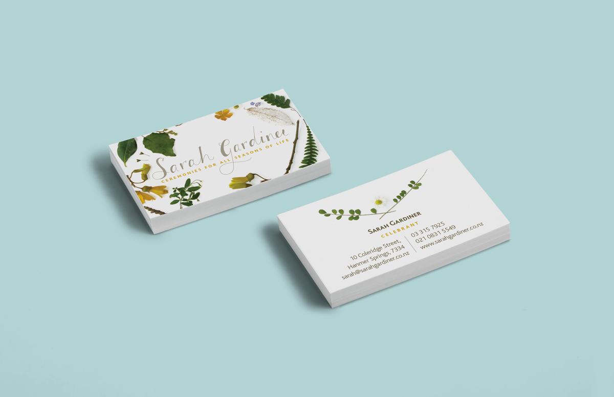 Sarah Gardiner Celebrant businesscard