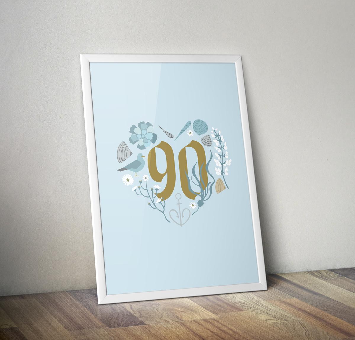 Grandpa's 90th poster