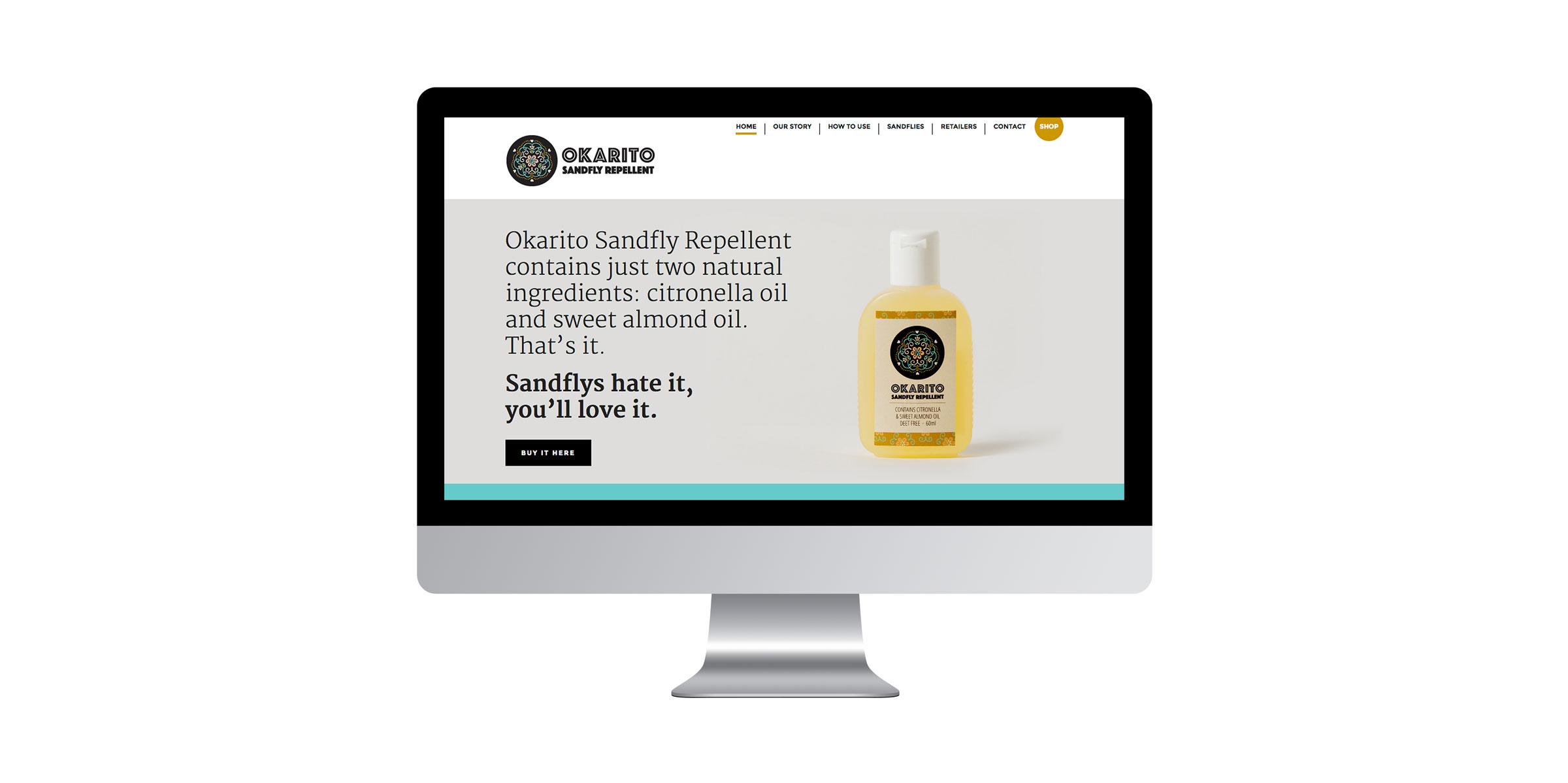 Okarito Sandfly Repellent | Web design